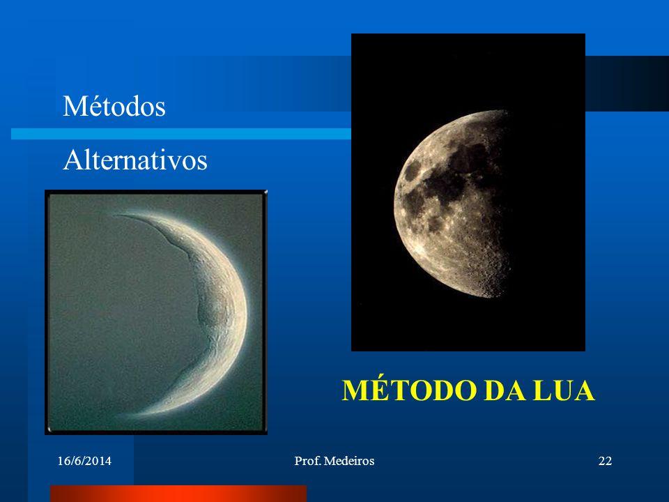 Métodos Alternativos MÉTODO DA LUA 02/04/2017 Prof. Medeiros