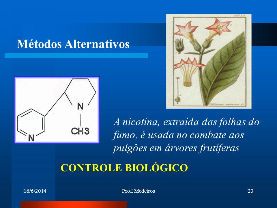 Métodos Alternativos A nicotina, extraída das folhas do fumo, é usada no combate aos pulgões em árvores frutíferas.