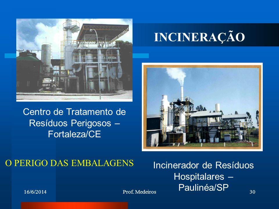 INCINERAÇÃO Centro de Tratamento de Resíduos Perigosos – Fortaleza/CE