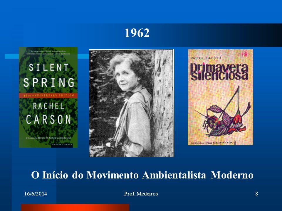 1962 O Início do Movimento Ambientalista Moderno 02/04/2017