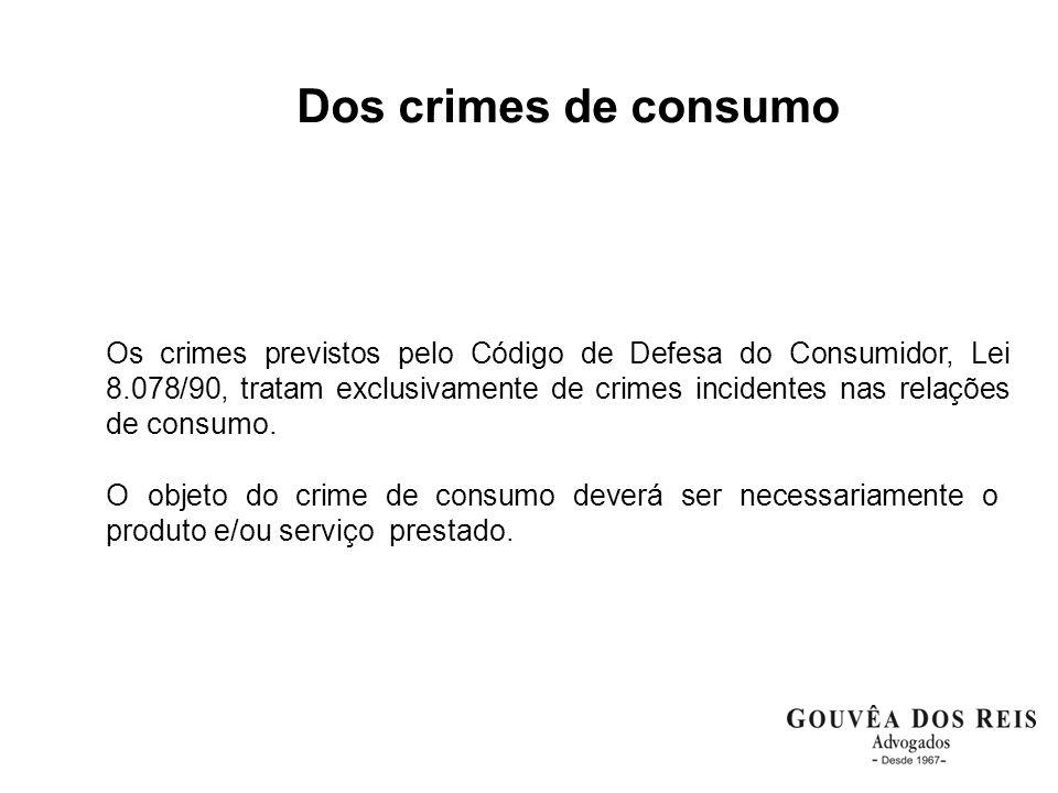Dos crimes de consumo