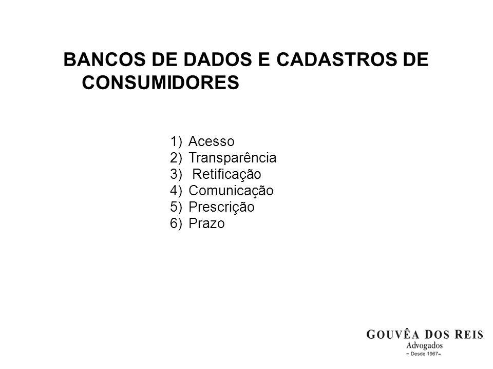 BANCOS DE DADOS E CADASTROS DE CONSUMIDORES