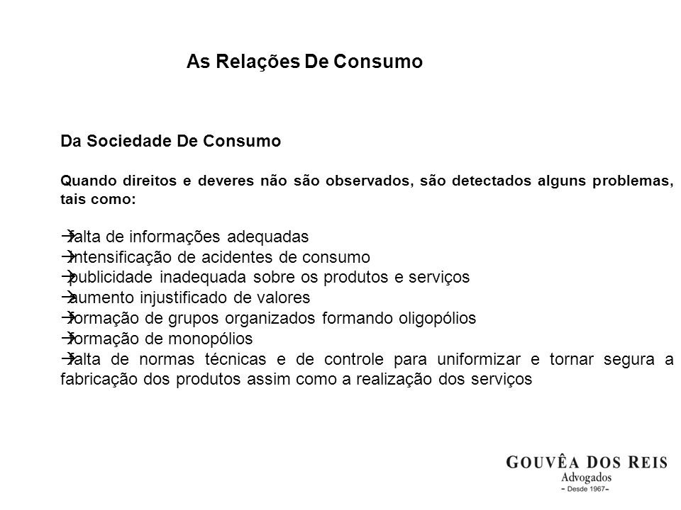 As Relações De Consumo Da Sociedade De Consumo