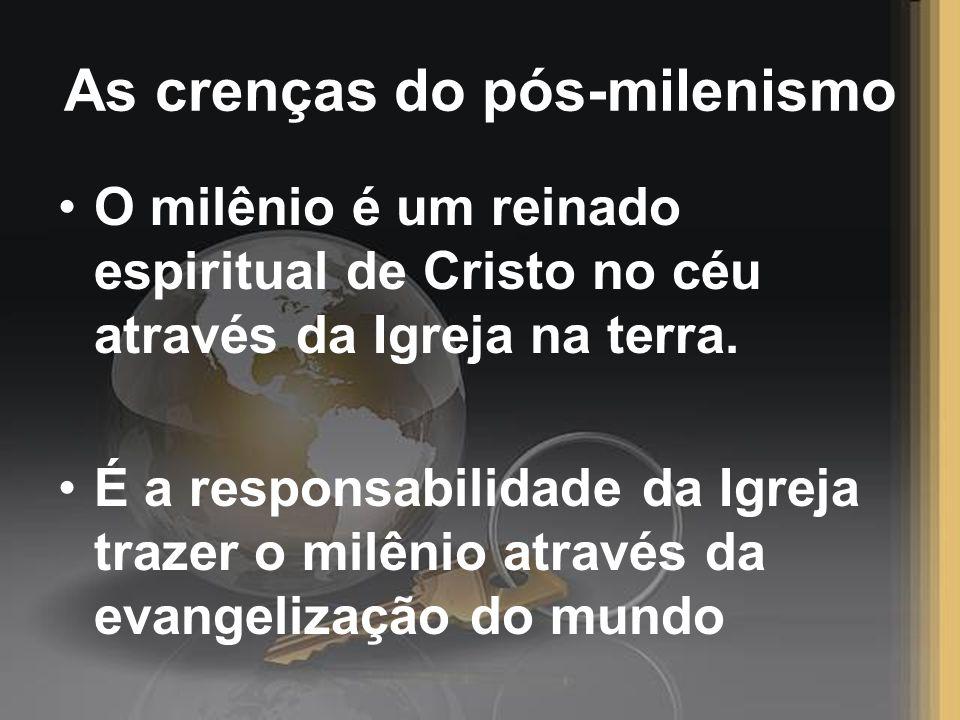 As crenças do pós-milenismo