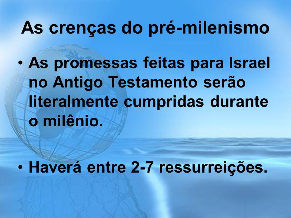 As crenças do pré-milenismo