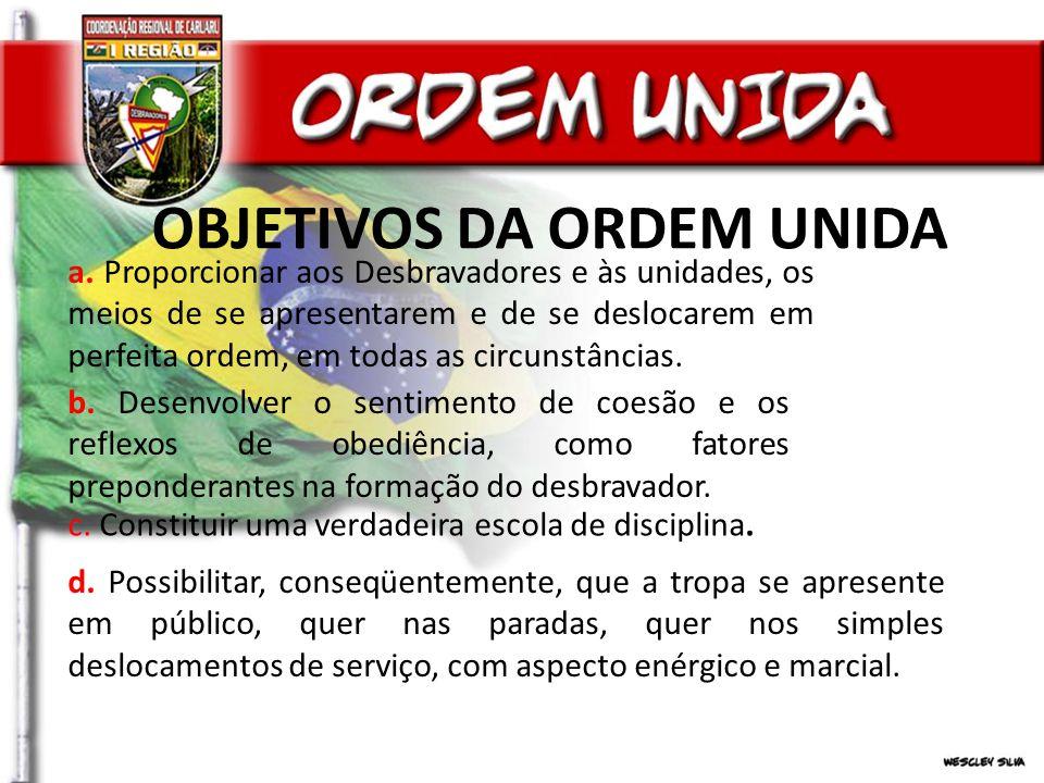 OBJETIVOS DA ORDEM UNIDA