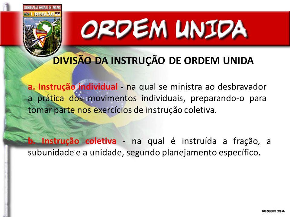 DIVISÃO DA INSTRUÇÃO DE ORDEM UNIDA