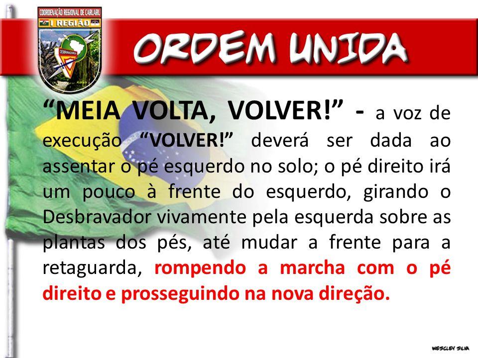 MEIA VOLTA, VOLVER. - a voz de execução VOLVER