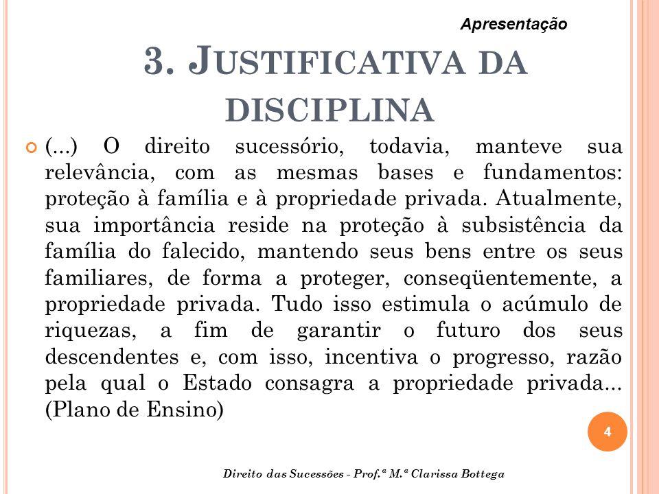 3. Justificativa da disciplina
