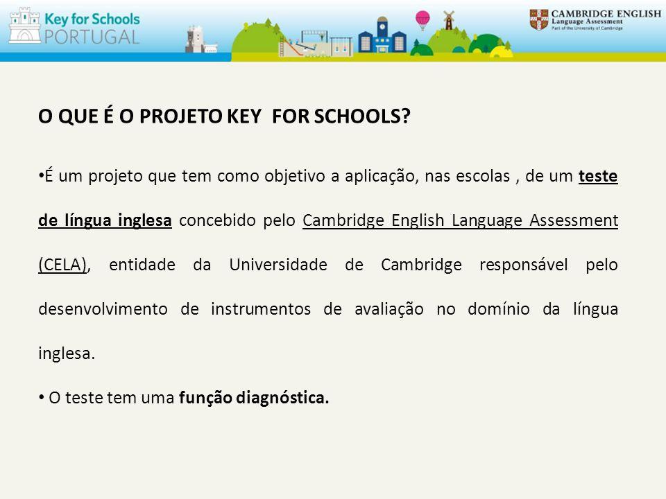 O QUE É O PROJETO KEY FOR SCHOOLS