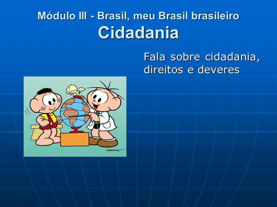 Módulo III - Brasil, meu Brasil brasileiro Cidadania