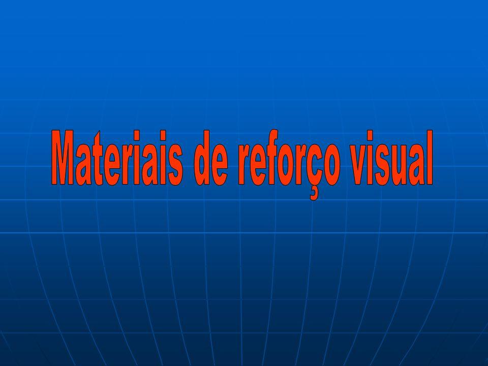 Materiais de reforço visual
