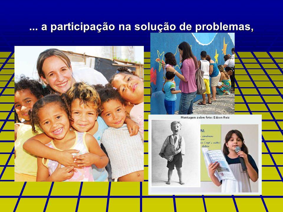 ... a participação na solução de problemas,