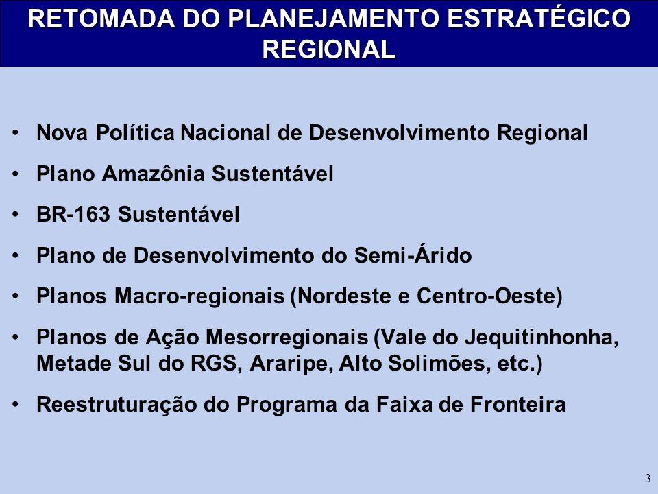 RETOMADA DO PLANEJAMENTO ESTRATÉGICO REGIONAL