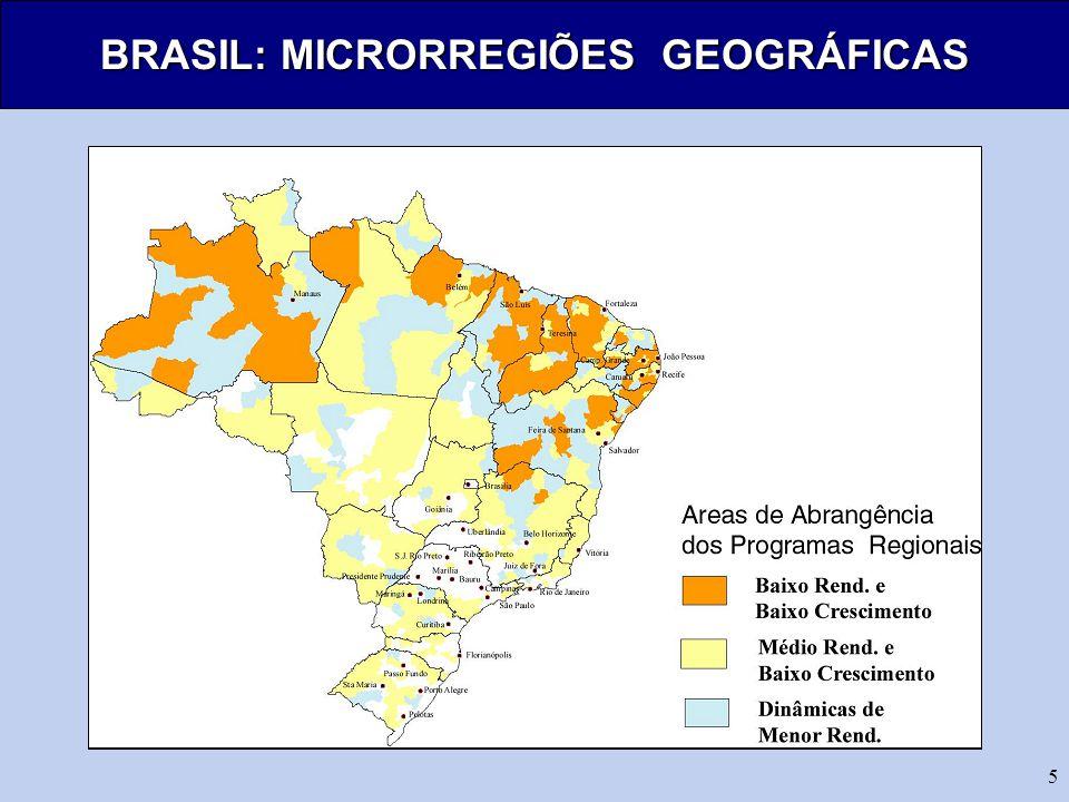 BRASIL: MICRORREGIÕES GEOGRÁFICAS