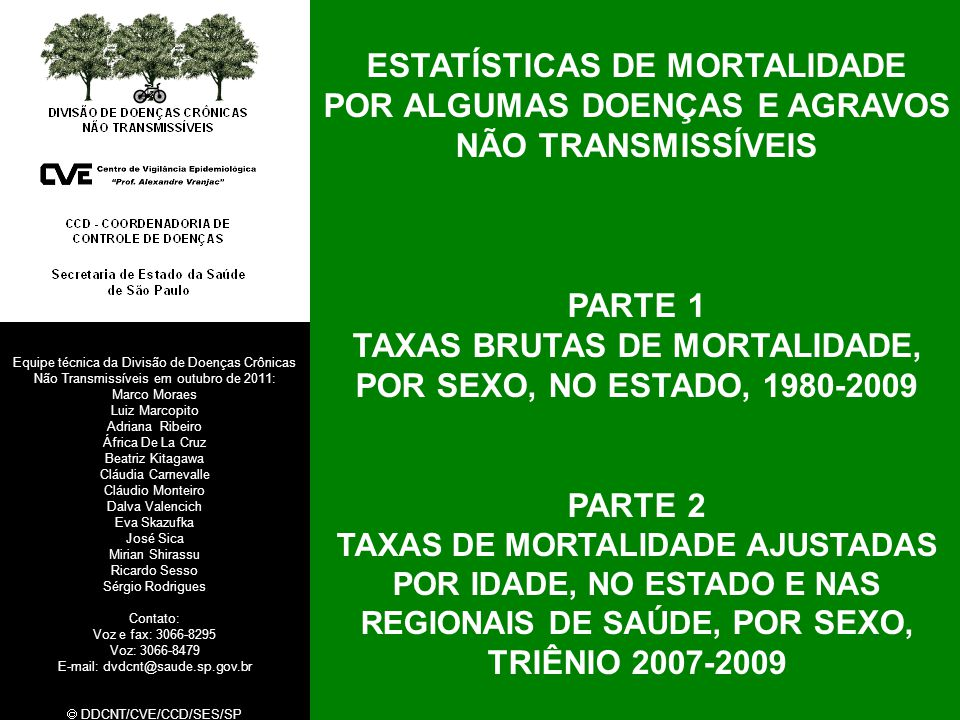 ESTATÍSTICAS DE MORTALIDADE