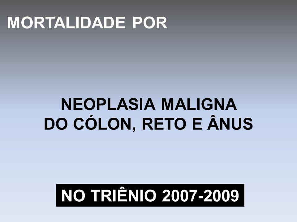 MORTALIDADE POR NEOPLASIA MALIGNA DO CÓLON, RETO E ÂNUS NO TRIÊNIO 2007-2009
