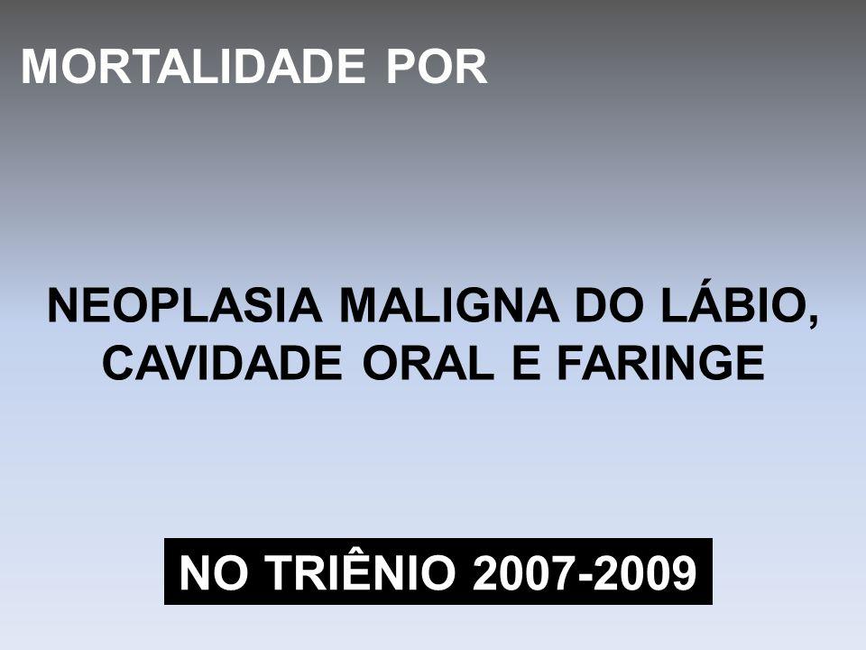 NEOPLASIA MALIGNA DO LÁBIO, CAVIDADE ORAL E FARINGE