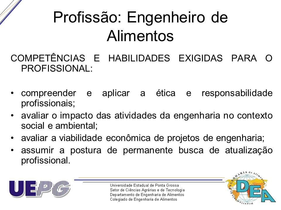 Profissão: Engenheiro de Alimentos