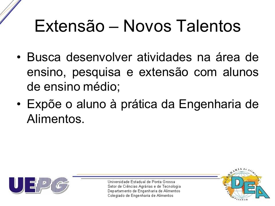 Extensão – Novos Talentos