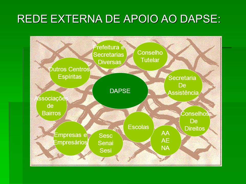 REDE EXTERNA DE APOIO AO DAPSE: