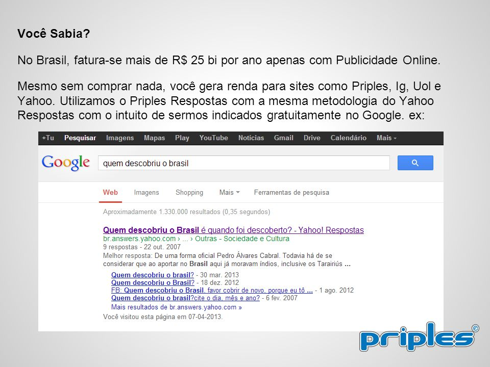 Você Sabia No Brasil, fatura-se mais de R$ 25 bi por ano apenas com Publicidade Online.