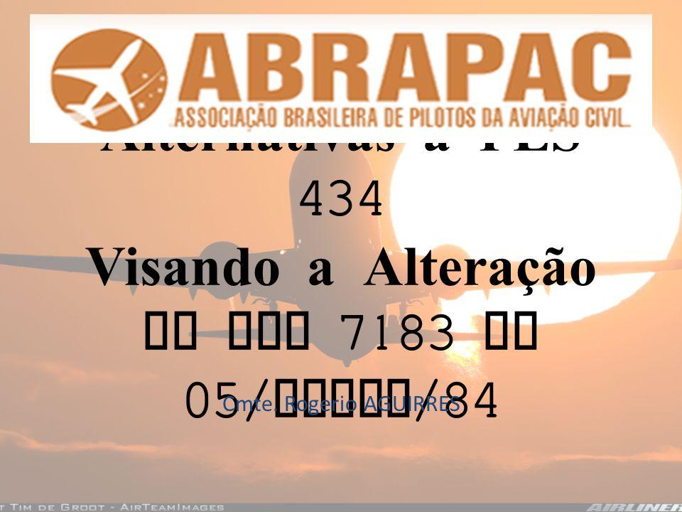 Alternativas a PLS 434 Visando a Alteração da Lei 7183 de 05/Abril/84