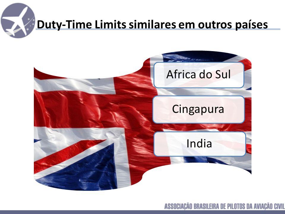 Duty-Time Limits similares em outros países