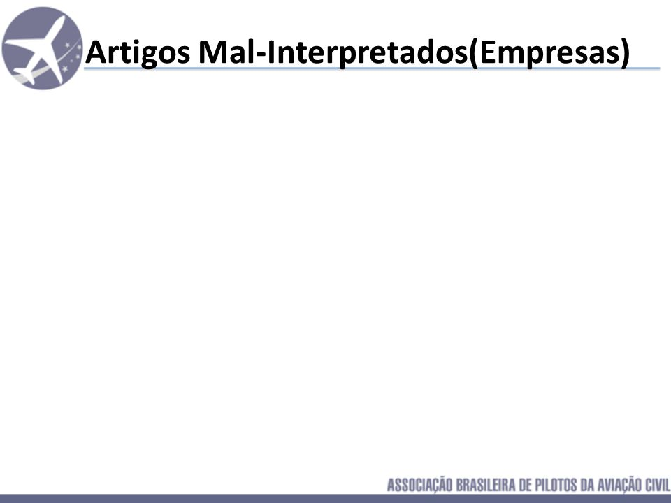 Artigos Mal-Interpretados(Empresas)