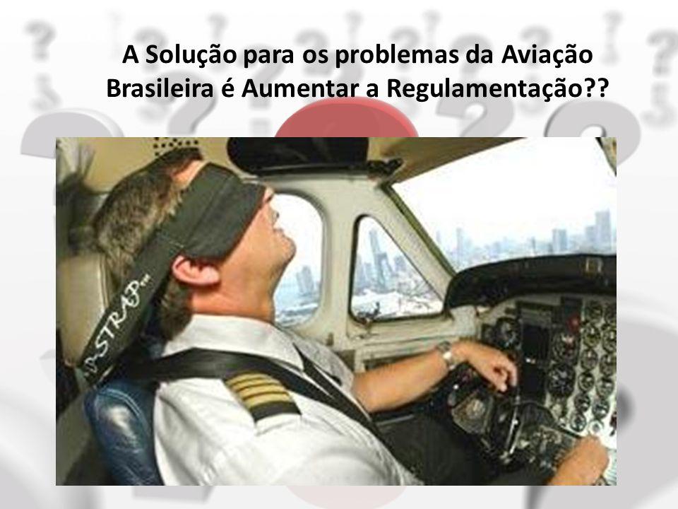 A Solução para os problemas da Aviação Brasileira é Aumentar a Regulamentação