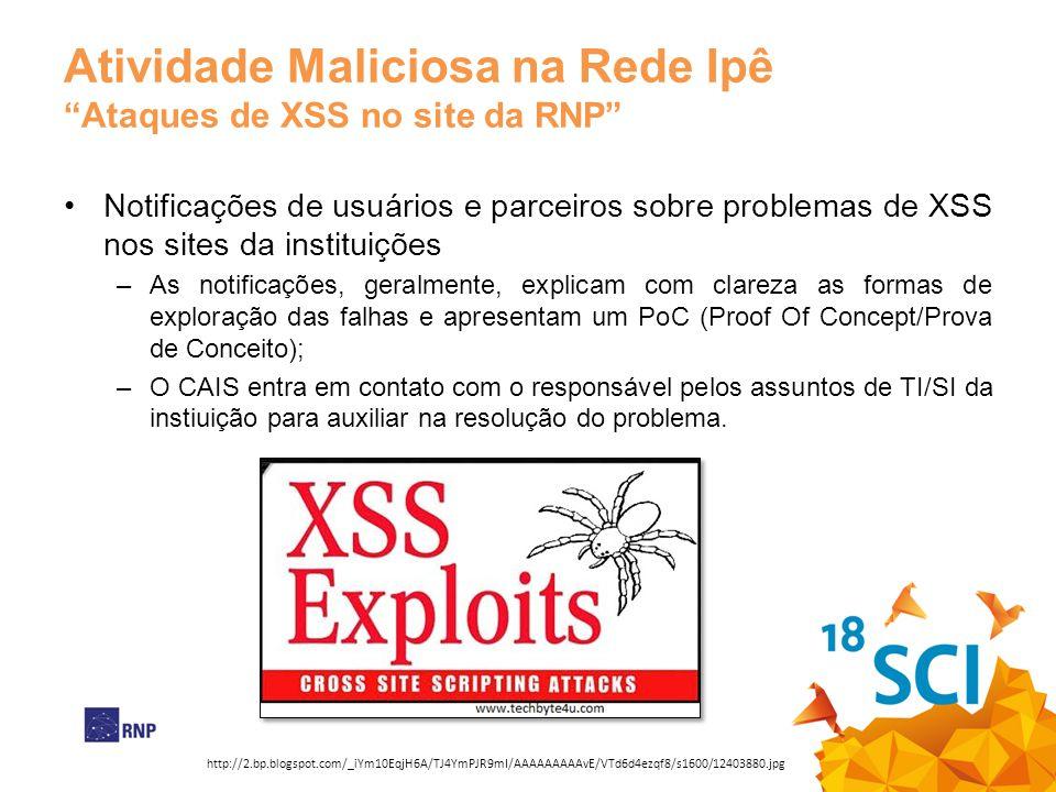 Atividade Maliciosa na Rede Ipê Ataques de XSS no site da RNP
