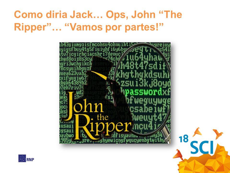 Como diria Jack… Ops, John The Ripper … Vamos por partes!
