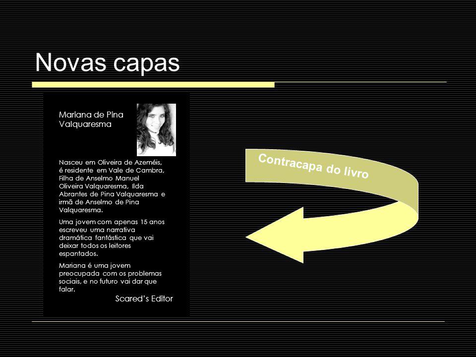 Novas capas Contracapa do livro Mariana de Pina Valquaresma