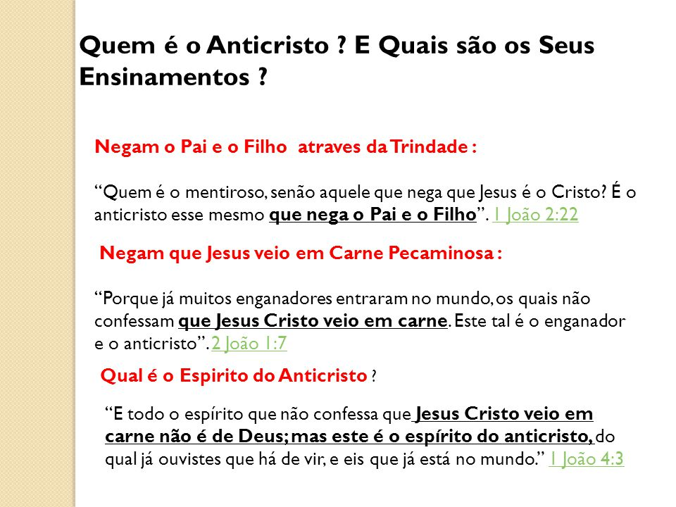 Quem é o Anticristo E Quais são os Seus Ensinamentos