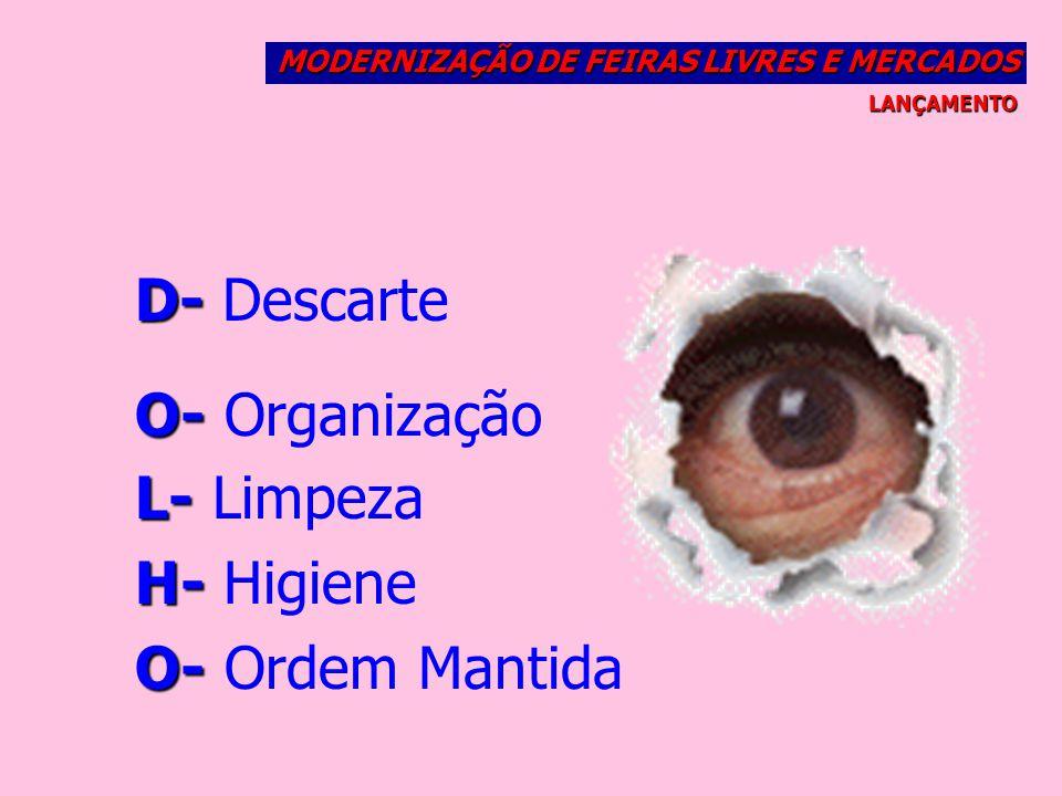 D- Descarte O- Organização L- Limpeza H- Higiene O- Ordem Mantida