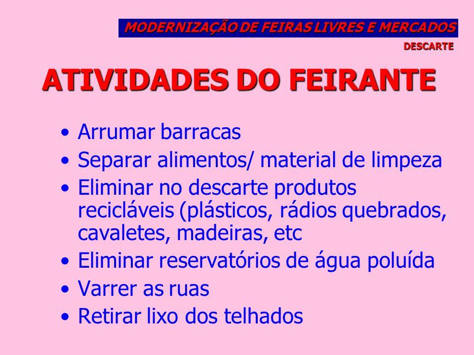 ATIVIDADES DO FEIRANTE