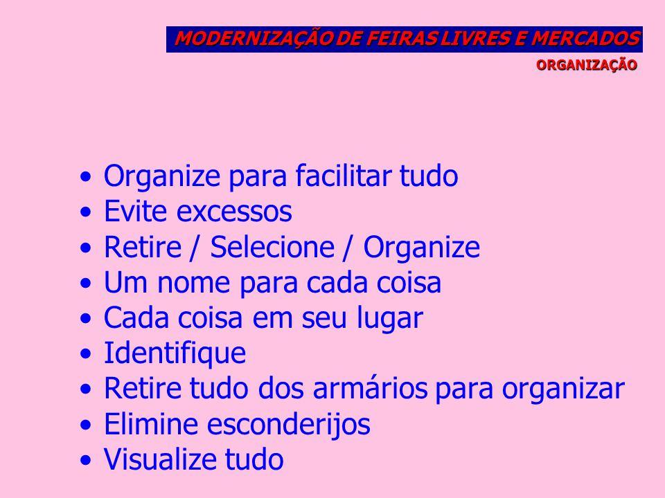 Organize para facilitar tudo Evite excessos