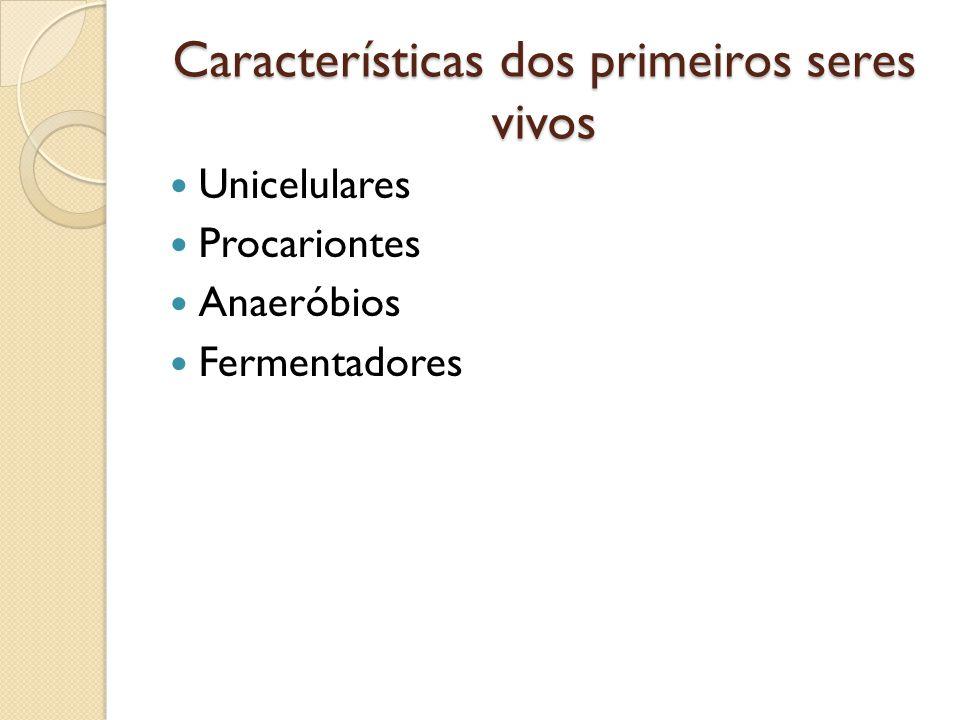 Características dos primeiros seres vivos