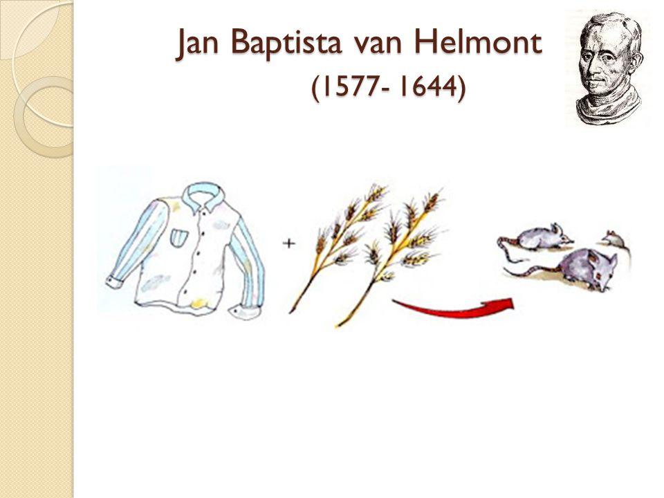 Jan Baptista van Helmont (1577- 1644)