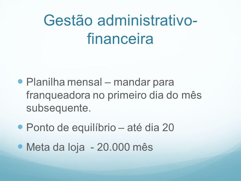 Gestão administrativo-financeira