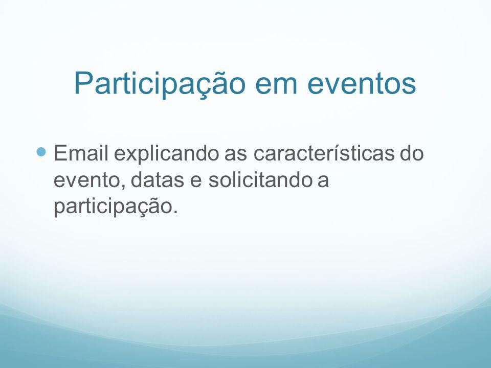 Participação em eventos