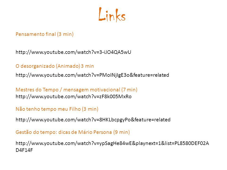 Links Pensamento final (3 min)