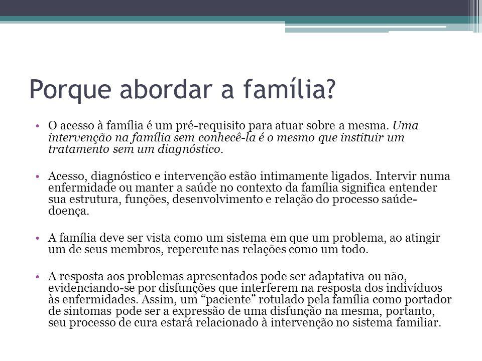 Porque abordar a família