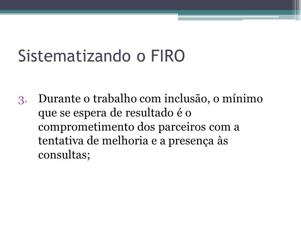 Sistematizando o FIRO