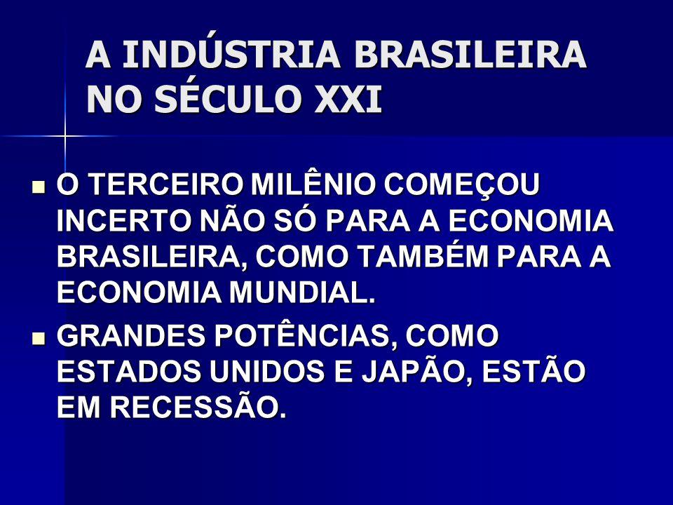 A INDÚSTRIA BRASILEIRA NO SÉCULO XXI