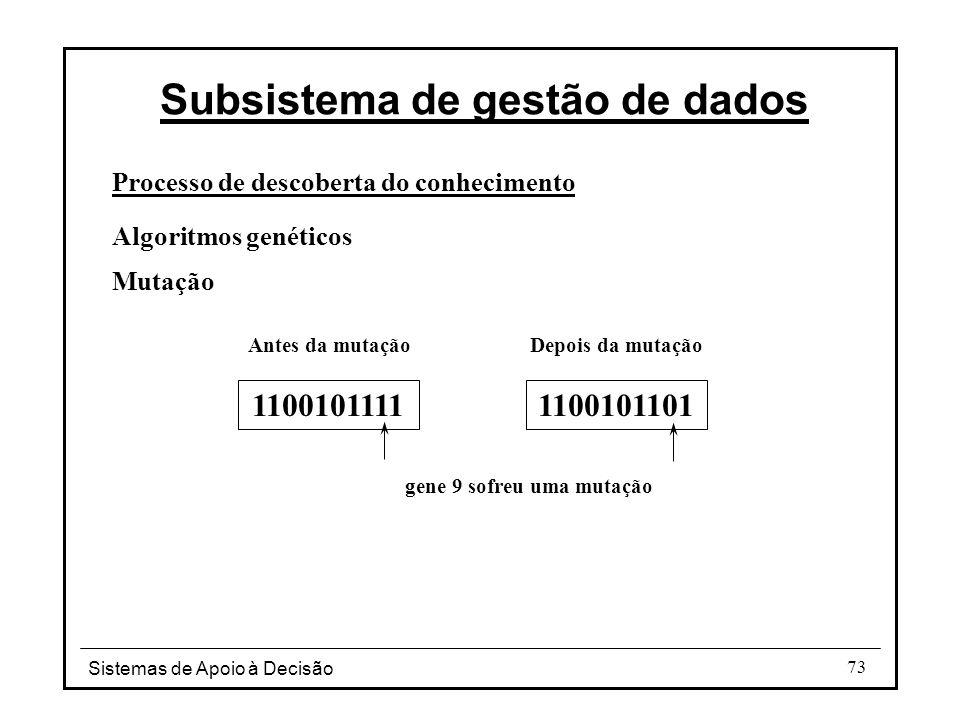 Subsistema de gestão de dados