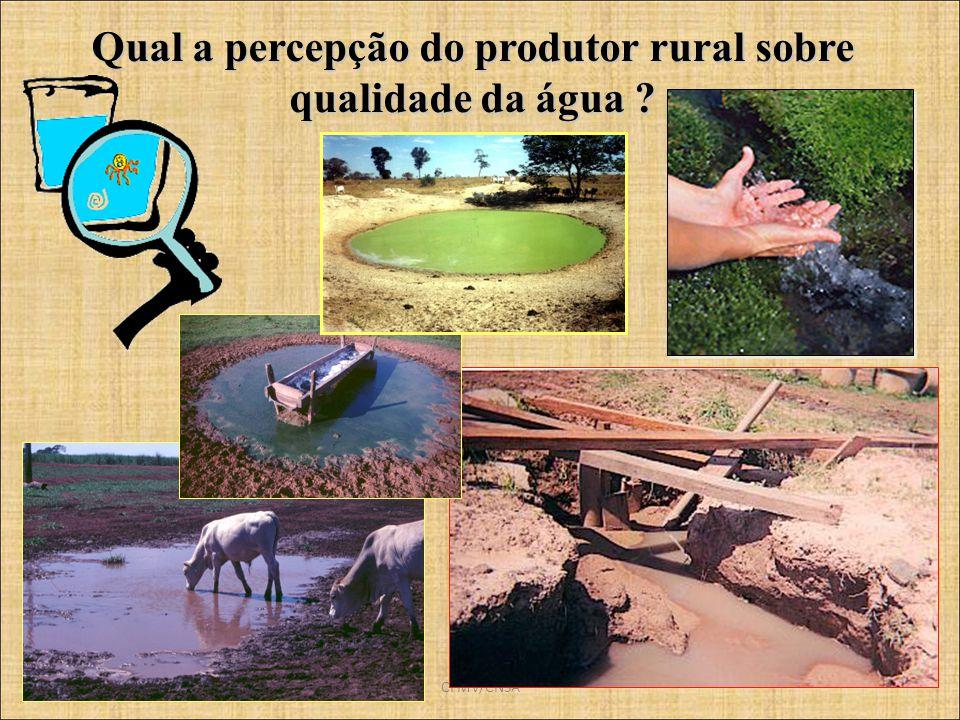 Qual a percepção do produtor rural sobre qualidade da água