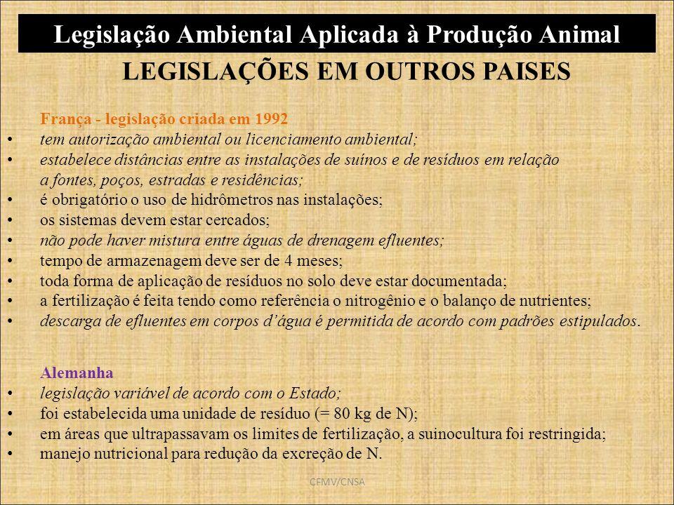 Legislação Ambiental Aplicada à Produção Animal