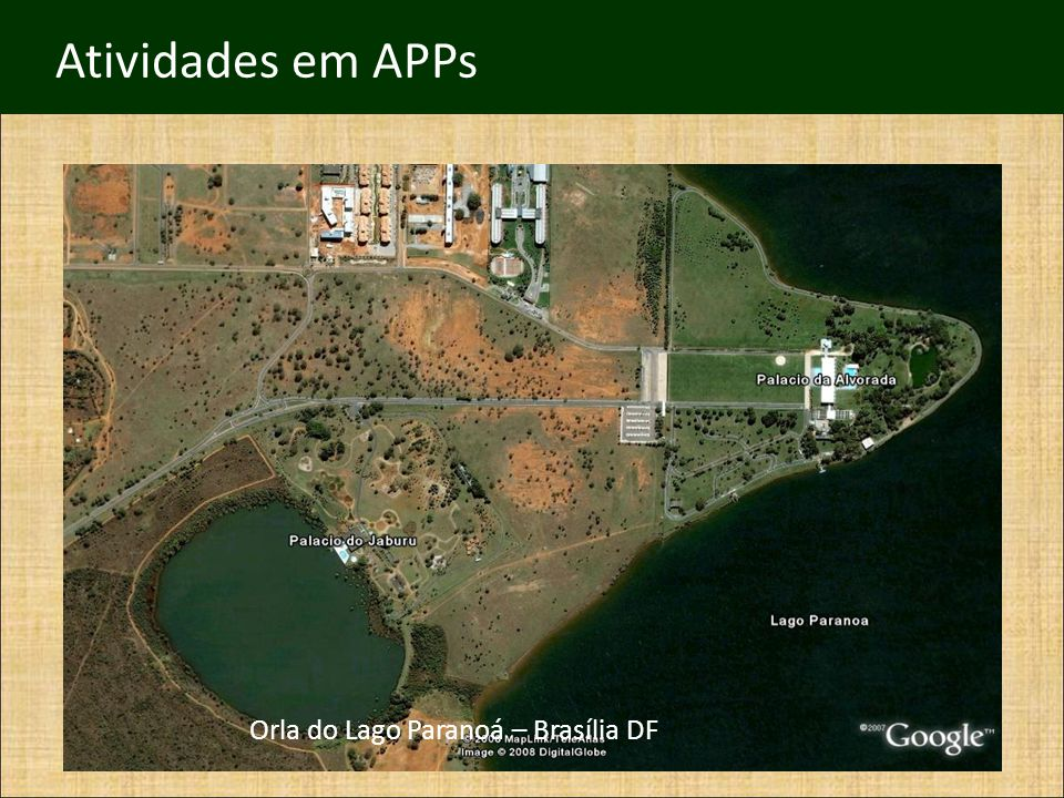 Atividades em APPs Orla do Lago Paranoá – Brasília DF CFMV/CNSA