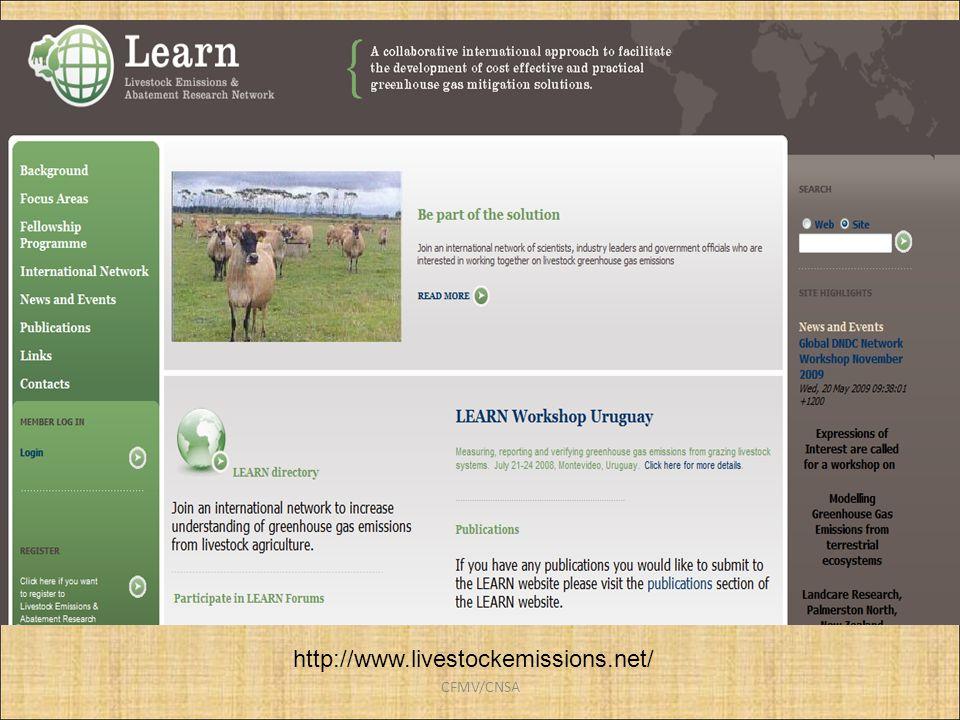 http://www.livestockemissions.net/ CFMV/CNSA